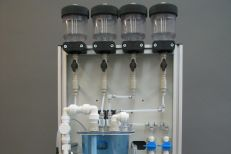 Test set-up chlorine measuring panel
